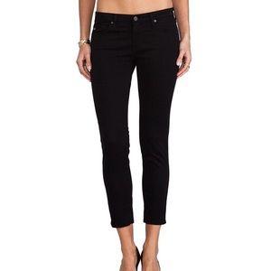 AG- Black Stilt Crop Jeans